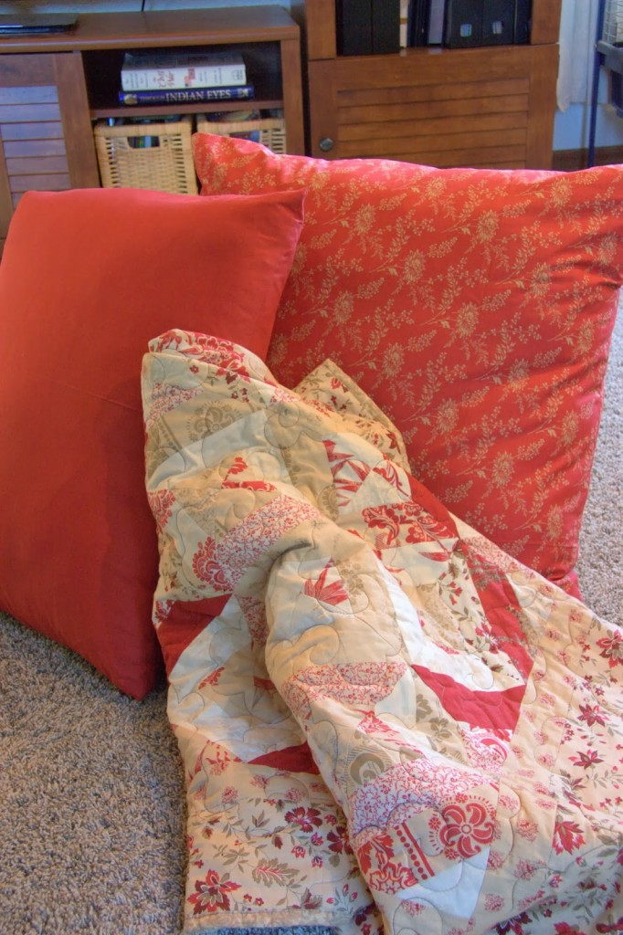 How To Make Extra Large Floor Pillows : Super Simple Floor Pillows - home is where my story begins...