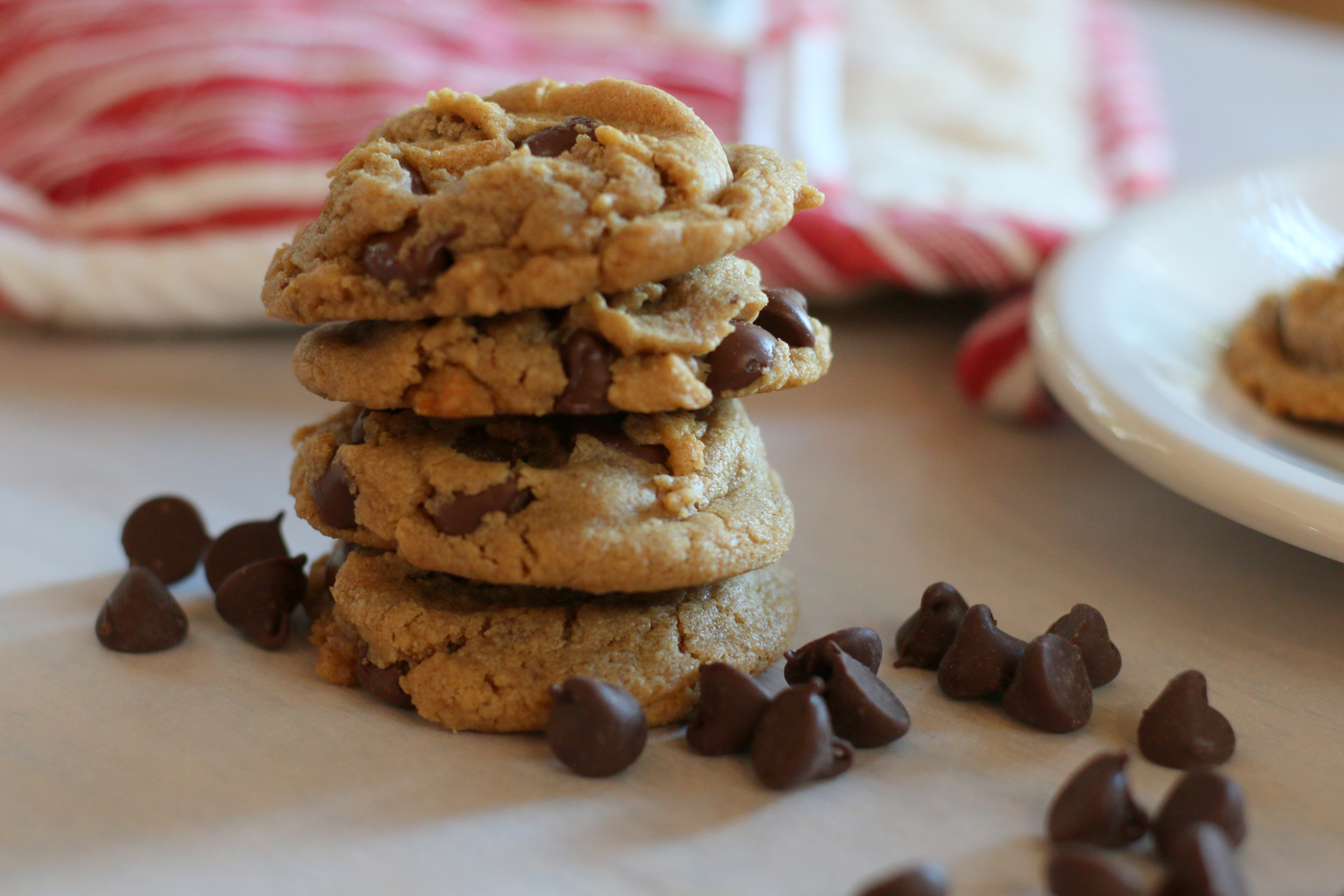 Peanut Butter Chocolate Chip Cookies With No Flour Home Is Where My Story Begins