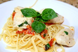 chicken basil and sundried tomato pasta